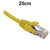 25cm Yellow CAT6 RJ45 UTP Patch Lead Dueltek CAT6-0.25-YEL