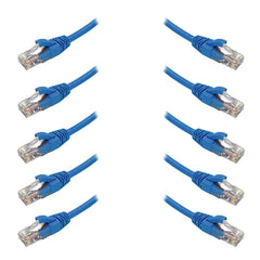 10 Pack of 5M Blue CAT6 Patch Leads