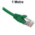 1M Green CAT6 RJ45 UTP Patch Lead Dueltek CAT6-01-GRN