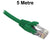 5M Green CAT6 RJ45 UTP Patch Lead Dueltek CAT6-05-GRN