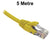 5M Yellow CAT6 RJ45 UTP Patch Lead Dueltek CAT6-05-YEL