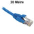 20M Blue CAT6 RJ45 UTP Patch Lead Dueltek CAT6-20-BLU