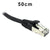 50cm Black CAT6A S/FTP Patch Lead by Dueltek CAT6A-0.5-BK
