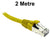 2M Yellow CAT6A S/FTP Patch Lead with Snag Free Connectors Dueltek CAT6A-02-YE