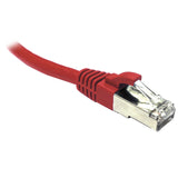 Red CAT6A S/FTP Patch Lead with Snag Free Connectors Dueltek