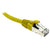 Yellow CAT6A S/FTP Patch Lead with Snag Free Connectors Dueltek