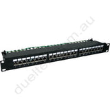 24-Port CAT6A Shielded Patch Panel