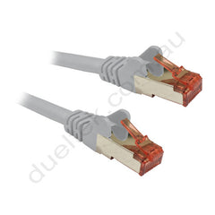 Grey CAT6A S/FTP Cable with Red RJ45