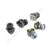 Set of Silver Captive Cage Nuts CN50