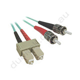 ST-SC OM3 Duplex Patch Lead