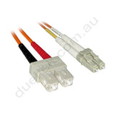 LC-SC OM1 Duplex Patch Lead