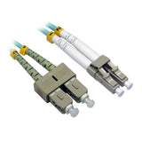 LC-SC OM3 Duplex Fiber Optic Patch Lead