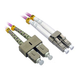 LC-SC OM4 Duplex Fiber Optic Patch Lead