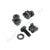 Set of Black Captive Cage Nuts CN20B