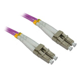 LC OM4 Duplex Fiber Optic Patch Lead