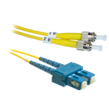 ST-SC OS2 Duplex Fiber Optic Patch Lead