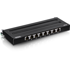 TC-P08C6AS | 8 Port Loaded CAT6A Shielded Wall Mount Patch Panel - TRENDnet