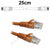 25cm Orange CAT6 RJ45 Cable UTP6-0.25-ORANGE-L