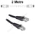 2M Black CAT6 RJ45 Cable UTP6-02-BK