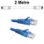 Blue CAT5e UTP Network Cable UTPS-02-BL-L