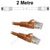 2M Orange CAT6 RJ45 Cable UTP6-02-ORANGE-L