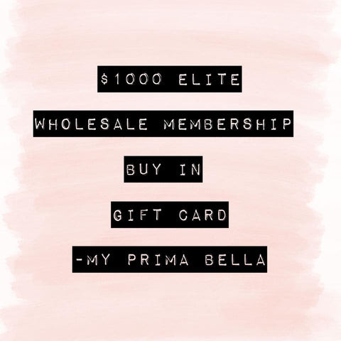 MPB Wholesale Membership Gift Card - $1000 Elite