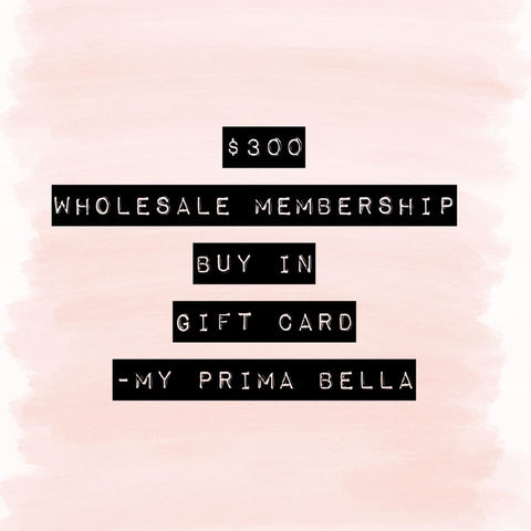 MPB Wholesale Membership Gift Card - $300