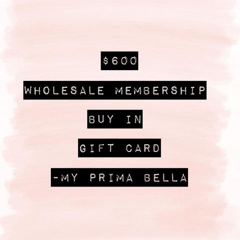 MPB Wholesale Membership Gift Card - $600