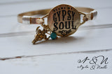 BLAME MY GYPSY SOUL - Antique Gold Tone Bangle by Nyla and Noelle