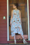 EDELIRA - Chiffon Floral Print Boho Cut Tank Dress by Nyla and Noelle