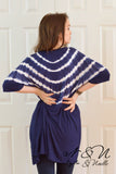 FLINT - Navy Long Length Tie Die Tunic by Nyla and Noelle