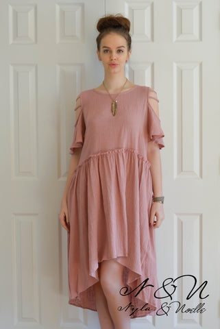 ABERDEEN -  Gauzy Rustic Boho Dress by Nyla and Noelle