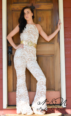 ARSENIC and LACE - Lace Long Pant Romper by Nyla and Noelle