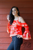 GABBY - Cold Shoulder Floral Top by Nyla and Noelle