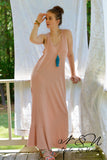 AVIE - Vintage Cotton Tank Maxi Dress with Piece Placed Hemline
