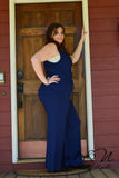 MARTHA'S VINEYARD  Wrap Plus Size Jump Suit by Nyla and Noelle