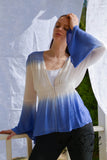MAVERICK - Ombre Bell Sleeve Crepe Top by Nyla and Noelle