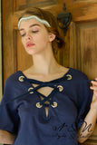 GRAYSIE - Lace Up Neckline Top by Nyla and Noelle