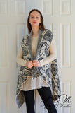 HEMINGWAY - Paisley Print Sleeveless Wrap by Nyla and Noelle