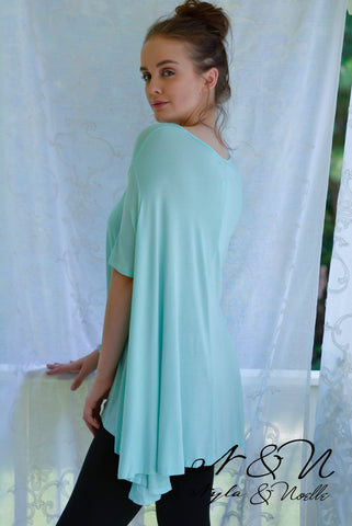 KENIA - Mint Boho Cut Swing Top by Nyla and Noelle