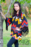 CHEVRON FRINGE -  BOHO Print Top with Fringe by Nyla and Noelle