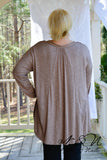 DERRINGER - Plus Size Oversize Cut Top with Lace Accents
