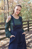 EMBER - Navy Corduroy Skirt Jumper by Nyla and Noelle