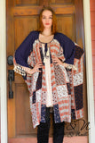 LINCOLN - Long Patchwork Print Wrap by Nyla and Noelle