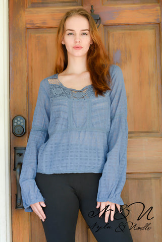 LUNA Gauzy Balloon Sleeve Top by Nyla and Noelle