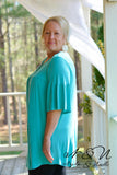 BERMUDA - Plus Size Criss-Cross Neckline Tunic