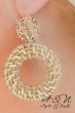 Basket - Basket Weave Earrings by Nyla and Noelle