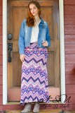INGRID - Boho Print Maxi Skirt by Nyla and Noelle