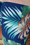 CABANA - Navy Plus Size Sand Tropical Print Jeggings