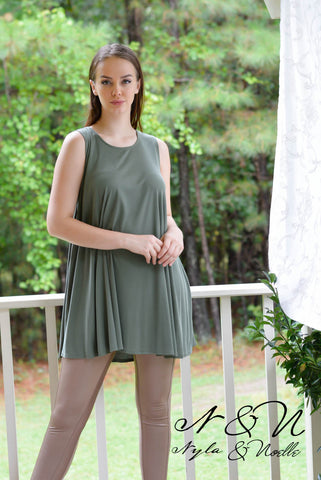 MIRANA - Cupro Knit Tank Dress or Long Tunic by Nyla and Noelle